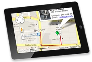 Mobiles and Tablets supported Interactive Maps