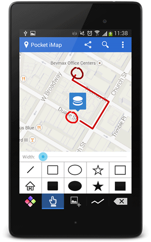 Mobile App For Drawing On Maps Pocket Imap