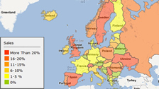 generate heat map for presenting business data in Europe