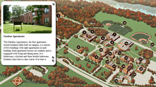 clickable campus map, floor plan for website