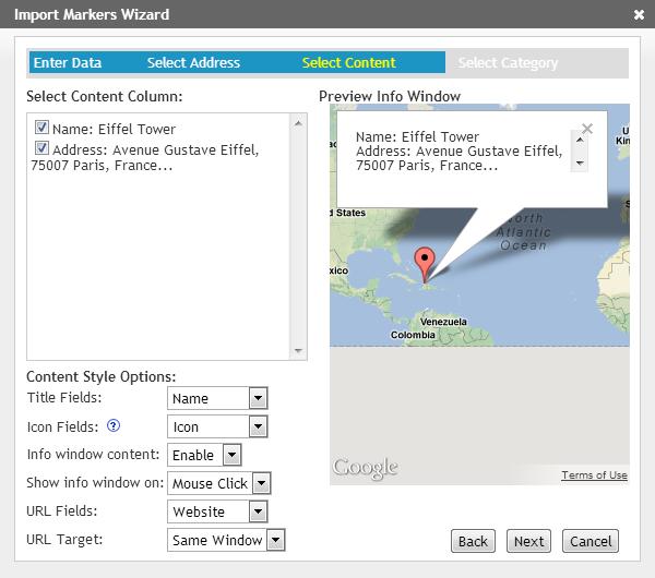 Import Map Data - iMapBuilder Online
